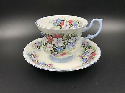 Royal Albert Fragrance Series Clematis Tea Cup Saucer Set England Bone China