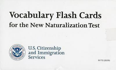 Vocabulary Flash Cards for the New Naturalization Test