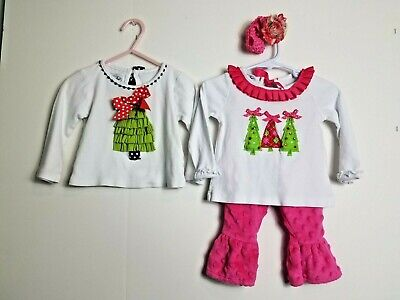 42539f642 Baby Girls 12-18 Month Mud Pie Multi-Color Embroidered 4 Piece Boutique Set