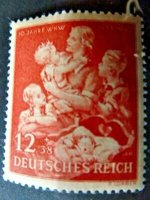 Germany Hitler Third Reich 1944 10th anniversary of winter help MNH