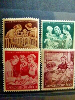 Germany Hitler Third Reich 1944 Charity stamps - mother and child MNH