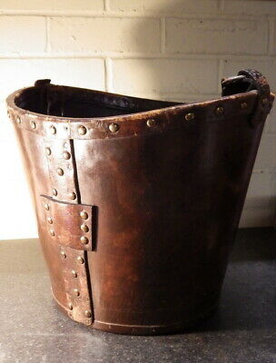 ANTIQUE 19th Century Riveted LEATHER FIRE BUCKET
