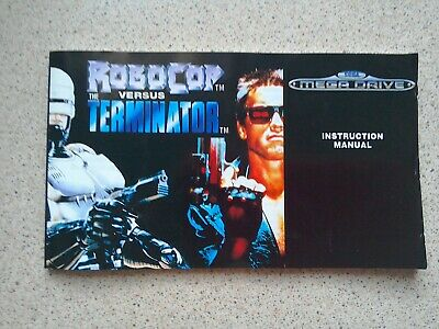 Robocop Versus Terminator Manual - For Sega Mega Drive Game - MANUAL ONLY (PAL)