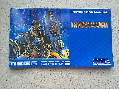 Bodycount Manual - Sega Mega Drive - NO GAME MANUAL ONLY (PAL)