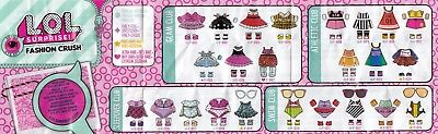 x2 LOL Surprise Fashion Crush Series 4 Eye Spy F-005 Fancy, F-008 NEW!