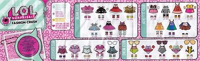 x2 LOL Surprise Fashion Crush Series 4 Eye Spy F-011, F-015 NEW!