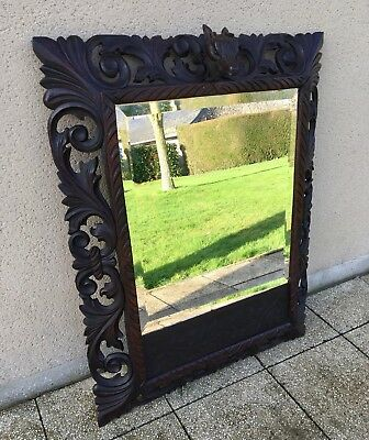 Antique French Carved Mirror 19th Century With Bevelled Glass FREE DELIVERY