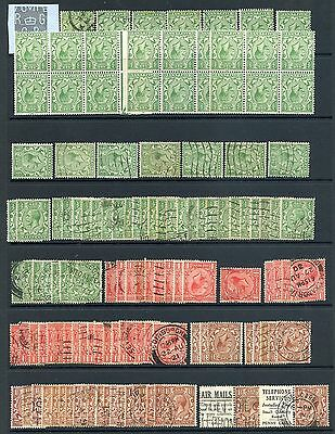 Great Britain 1924-36 lovely old time lot with MH, used, blocks etc Cat. £2069