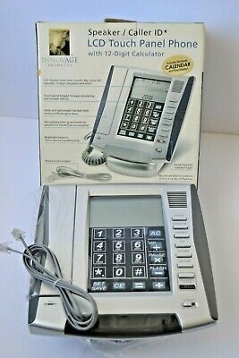 Innovage LCD Touch Panel Land Line Phone Speaker Caller ID Calculator Calendar