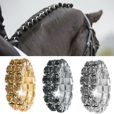 New Equetech  Crystal Plaiting Bands - Black Pack Of 15