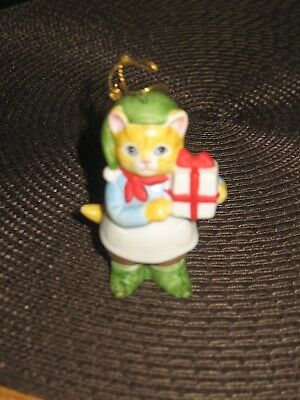 Vintage Kitty Cucumber Christmas Jb Buster Ornament