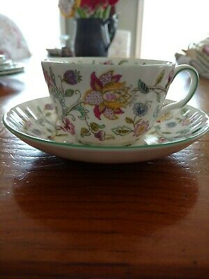 """Minton """"Haddon Hall Green"""" Cup & Saucer Set (Multiple Available)"""