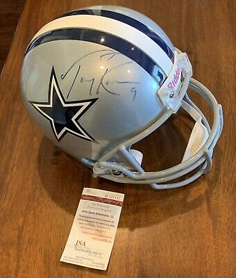 factory price d4824 4ff4e TONY ROMO AUTOGRAPHED Signed Dallas Cowboys Full Size Riddell Helmet Jsa Coa