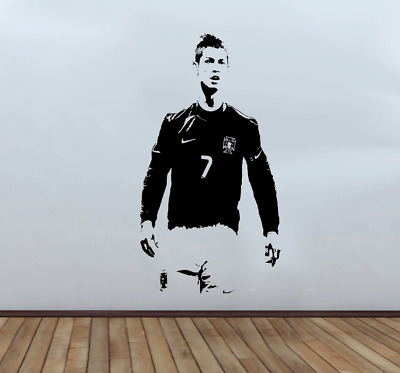 Christiano Ronaldo Wall Decal Sticker Large 110cm x 58cm