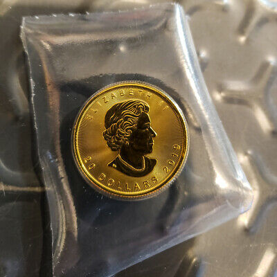 2019 1/2 oz Gold Canada Maple $20 Coin Brilliant Uncirculated mint sealed C