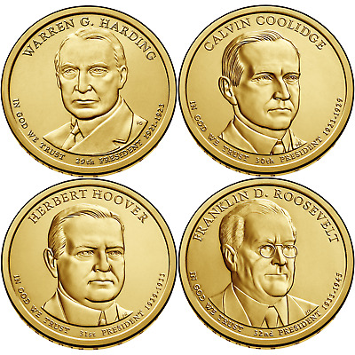 2014 D Presidential Dollar 4 Coin Set Uncirculated From United States Mint