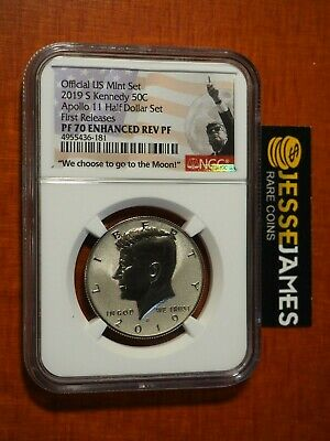 2019 S Enhanced Reverse Proof Kennedy Half Dollar Ngc Pf70 First Releases