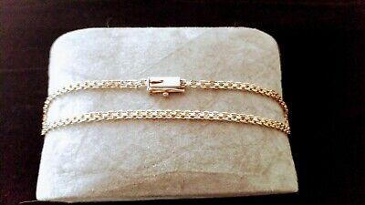 14K Yellow Gold Polished Woven Modern Chain Link Bracelet