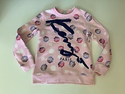 Kenzo Kids Pink Jumper Sweater Size 140cm Age 10 Years Vgc