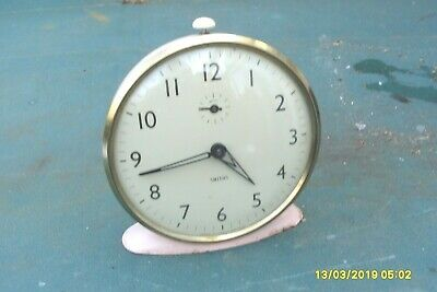 Vintage Alarm  Clock Smiths  Wind  Up  Clock Glass Front