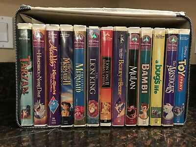 Lot of 13 Disney VHS Tapes Classic Masterpiece Collection
