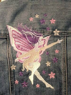 PERSONALIZED Girls Denim EMBROIDERED FAIRY Jean Jacket! Gap Kids!
