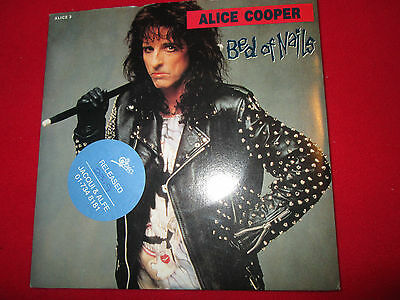 """Alice Cooper Bed Of Nails Epic promo Stickered  P/S UK 7"""" 45 PRESS RELEASE"""