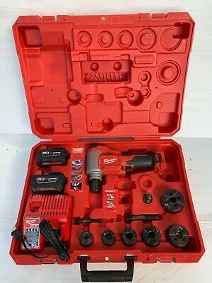 "Milwaukee 2676-22 ForceLogic M18 18V Li-ion 10 Ton Knockout Tool Kit 1/2"" - 2"""