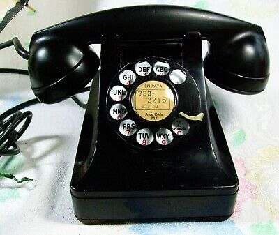 Vtg March 1950 Rotary Dial Telephone Western Electric 302 Restored Works!