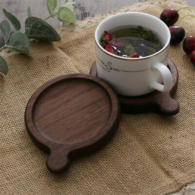 Wooden Round Non Slip Dining Cup Pot Table Insulation Mat Heat Resistant Pads G