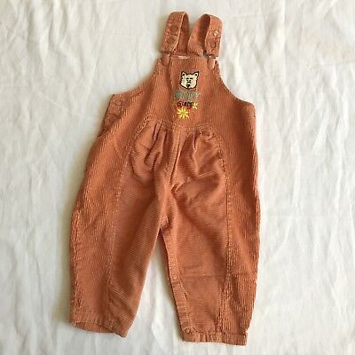 Vintage Corduroy Overalls 24 Month Husky Guide Cuties By Judy High Waist Romper