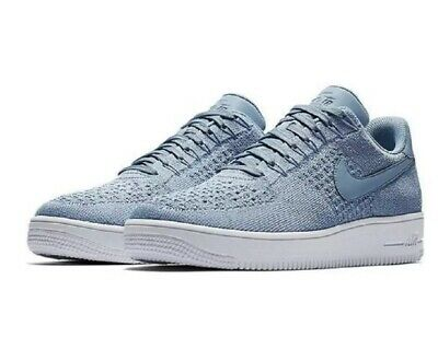 9580dbc0d47e Nike  140 AF1 Ultra Flyknit Low Work Blue Trainers Shoes (817419 402) - Size