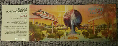 NEW UNUSED Walt Disney World EPCOT Center Special Edition opening day Ticket