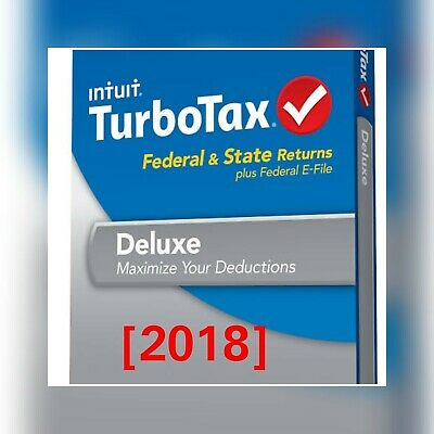 turbotax deluxe 2018 download with state