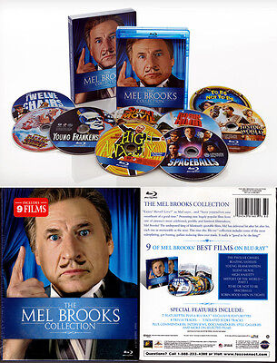 9-Disc Blu-ray MEL BROOKS COLLECTION Box Set WS SE Slipcase Region A OOP NEW