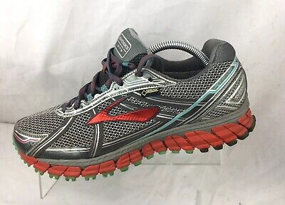 d896f938ab9c7 Brooks Adrenaline ASR 12 GTX Grey Red Sz 11.5 M Women Running Shoe  1201891B072