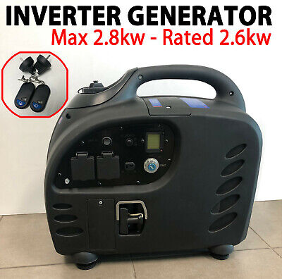 Inverter Generator 2.8KW Max 2.6KW Rated Pure Sine Portable Key and Remote Start