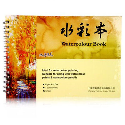A4 Watercolour Book Paper Journal Art Artist Sketchbook Pad For Drawing Crafts