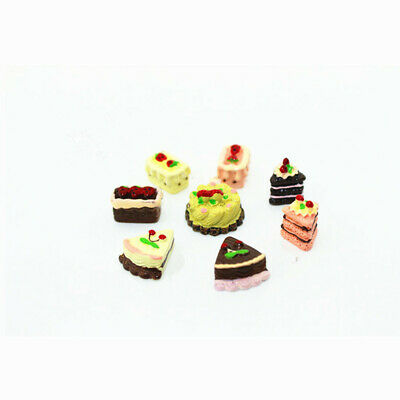 8 Dollhouse Miniature 1:12 Food Bakery Assorted Cake Fruit Chocolate Pie Rement