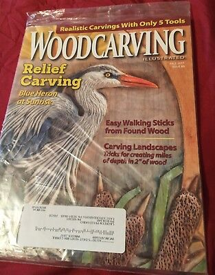 Wood Carving Illustrated magazine Fall 2017 issue 80 NEw in plastic