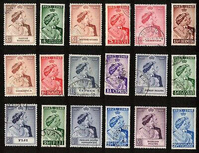 1923-1948 Silver Wedding Lot of 18 Stamps (Diff. Countries) #2