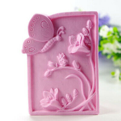 Butterfly Flowering Silicone Square Handmade Mould DIY Soap Mould
