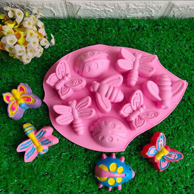 Pink Lotus Insects Cake Mold Silicone Handmade Soap Kitchen Mould