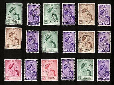 1923-1948 Silver Wedding Lot of 18 Stamps (Diff. Countries) #6