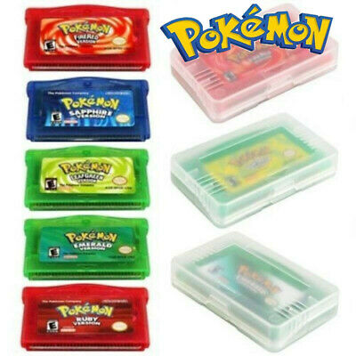 5 Types Pokemon Game Cards FIRE RED/RUBY/LEAF GREEN/EMERALD For GBA SP Gameboy