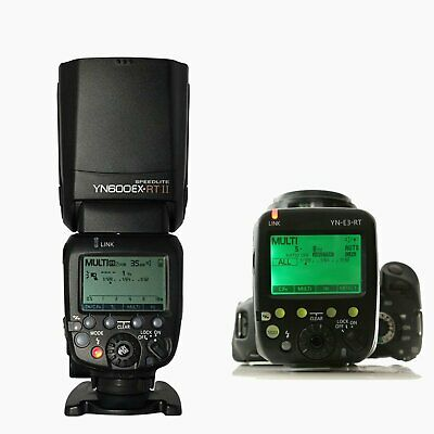 YongNuo YN600EX-RT II TTL HSS Wireless Flash + YN-E3-RT Transmitter Kit Fr Canon