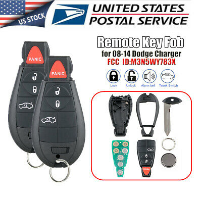 NEW 2 FOR 2008-2010 Dodge Charger Remote Start Fobik Key Keyless FOR
