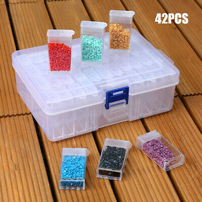 AU 10/42 Grid Diamond Storage Case Painting Embroidery Jewelry Drill Holder Tool