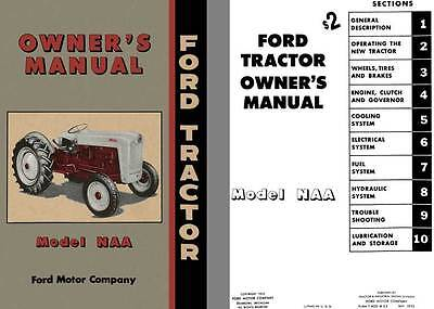 Ford Tractor 1952 - Ford Tractor Owner's Manual Model NAA