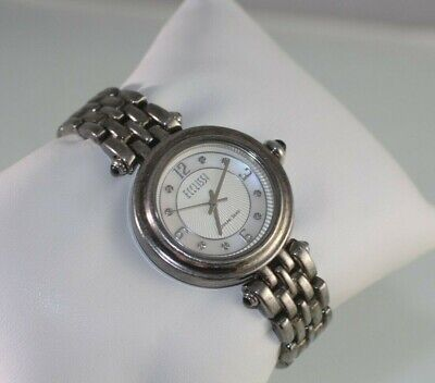 Ecclissi Sterling Silver Jewelry Bracelet Mother Of Pearl 33250 Ladies' Watch